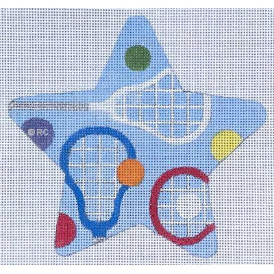 Lacrosse Star Canvas-Needlepoint Canvas-Raymond Crawford-KC Needlepoint