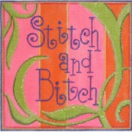 Stitch and Bitch Canvas-Needlepoint Canvas-Raymond Crawford-KC Needlepoint
