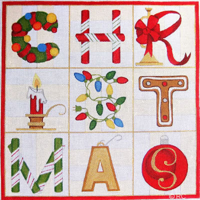 Christmas Canvas-Needlepoint Canvas-Raymond Crawford-KC Needlepoint
