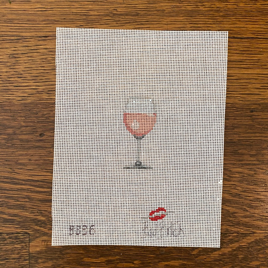 Mini Rosé Wine Glass Canvas
