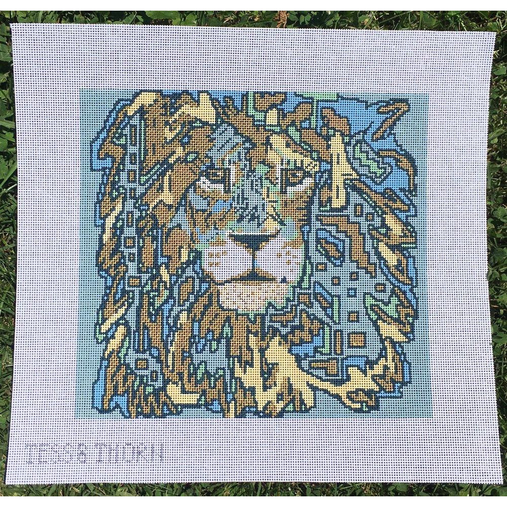 Cecil the Lion Needlepoint Canvas - KC Needlepoint