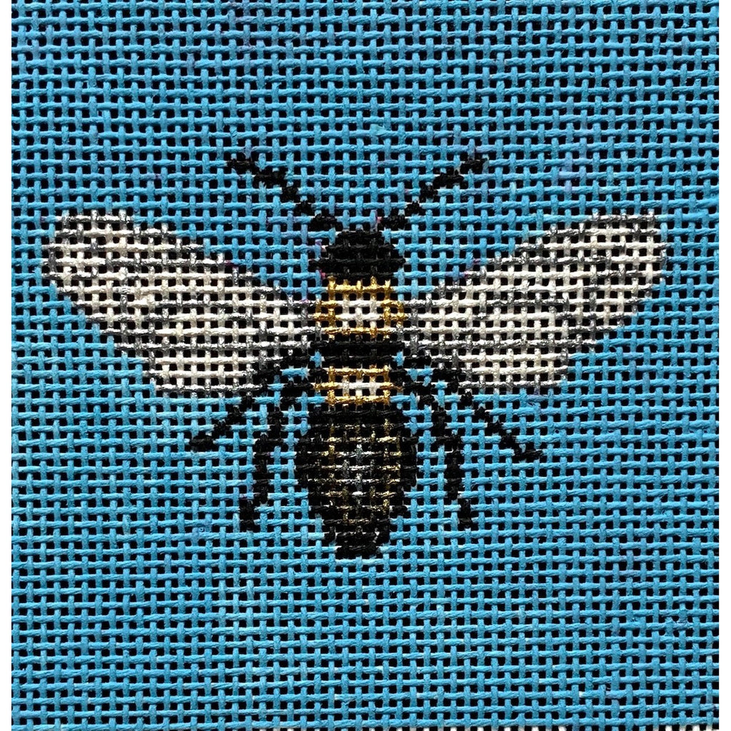 "Bee 3"" Square Insert Canvas-Needlepoint Canvas-Vallerie Needlepoint-KC Needlepoint"