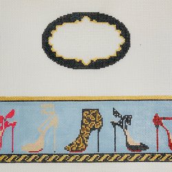 Stillettos Hinged Box Canvas-Needlepoint Canvas-Funda Scully-KC Needlepoint