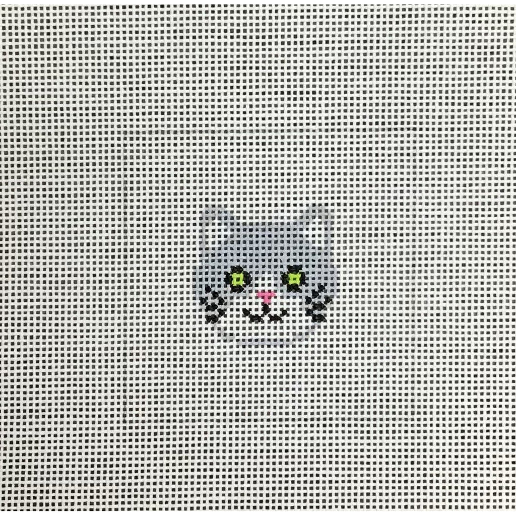 Cat Square Canvas-Needlepoint Canvas-KC Designs-KC Needlepoint