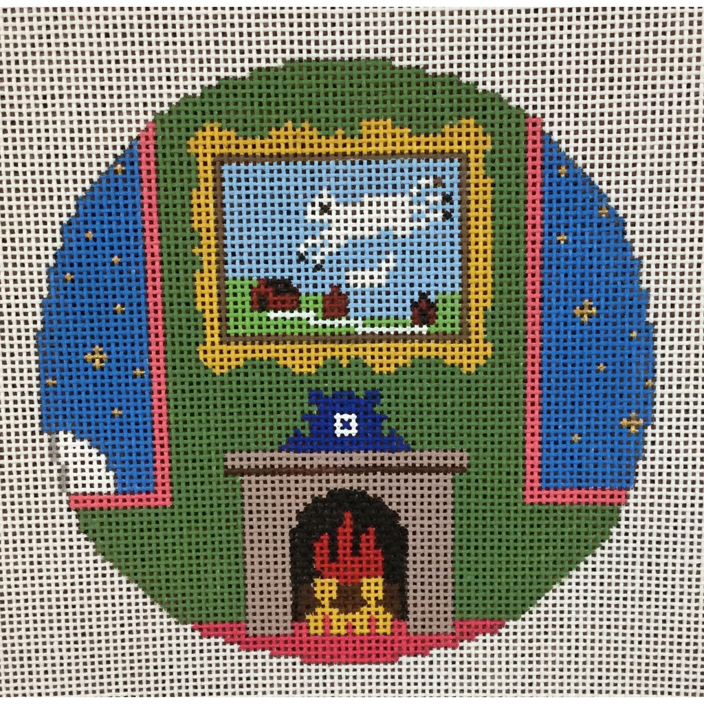 Cow Jumping over the Moon Canvas - KC Needlepoint