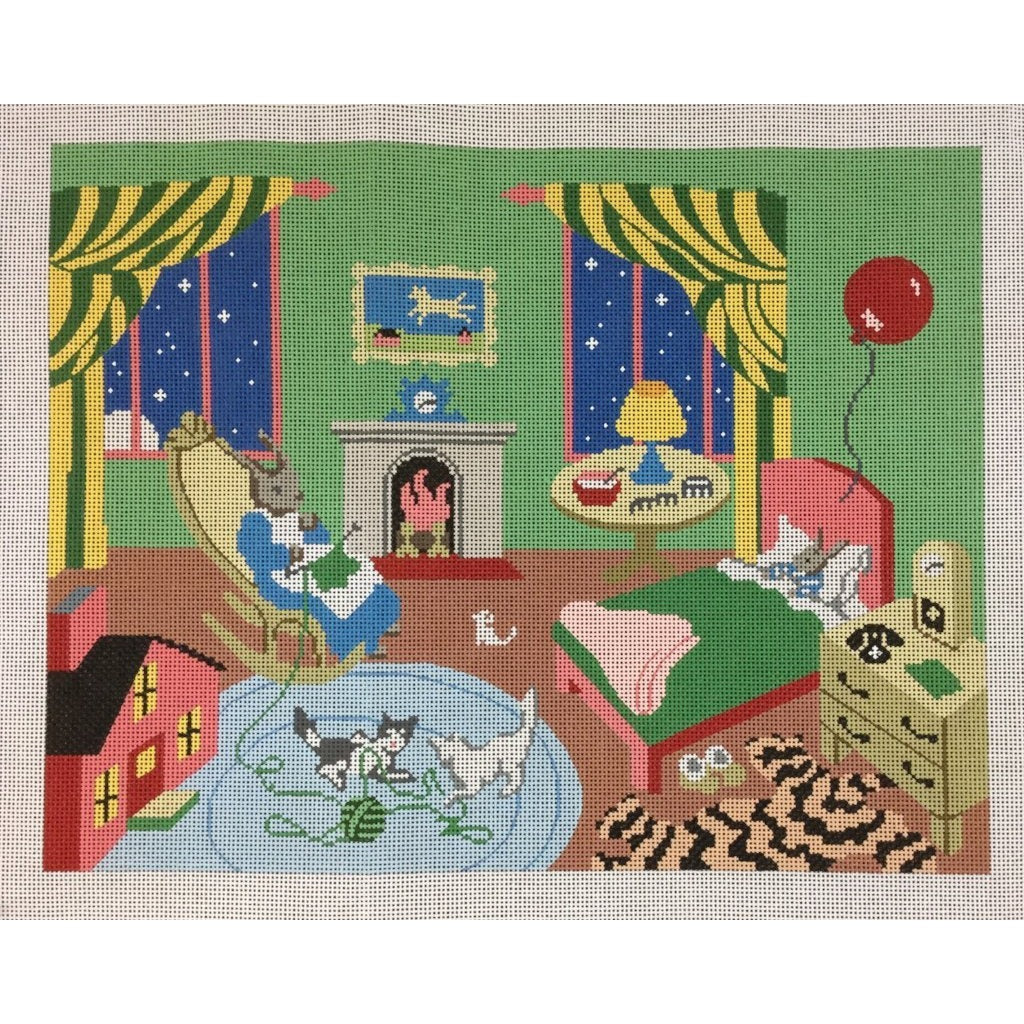 Goodnight Moon Needlepoint Canvas-Needlepoint Canvas-Silver Needle-KC Needlepoint