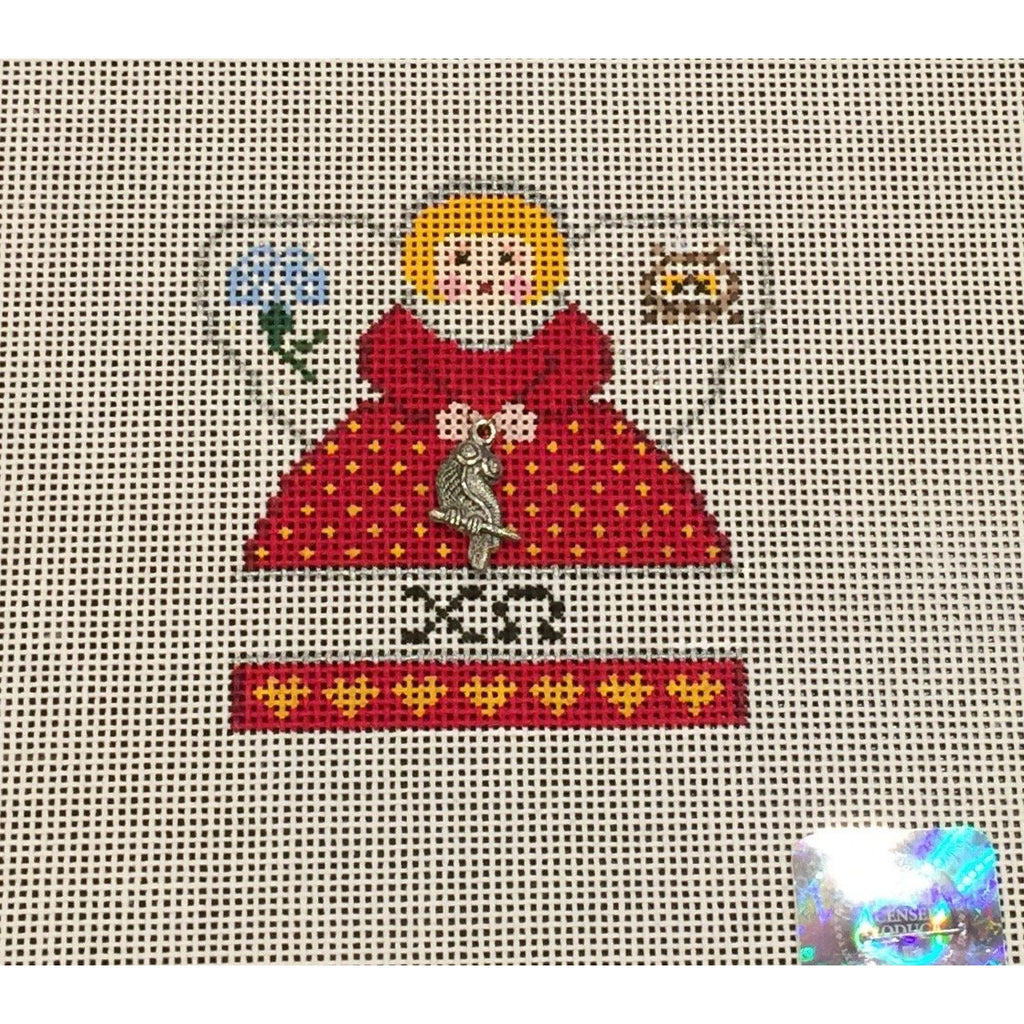 Chi Omega Mini Angel Canvas-Painted Pony-KC Needlepoint