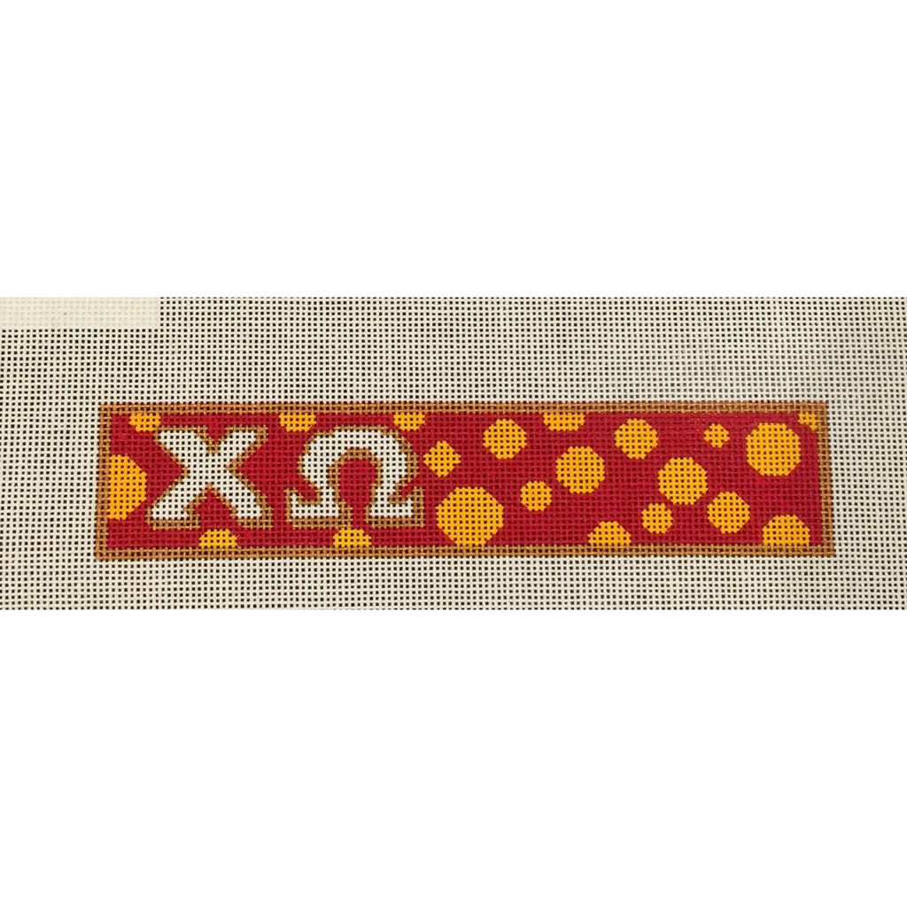 Chi Omega Key Fob Canvas-Painted Pony-KC Needlepoint