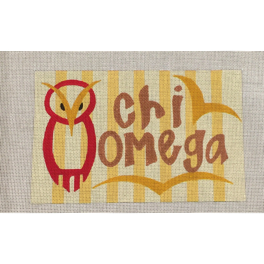 Chi Omega Nickname Canvas-Painted Pony-KC Needlepoint