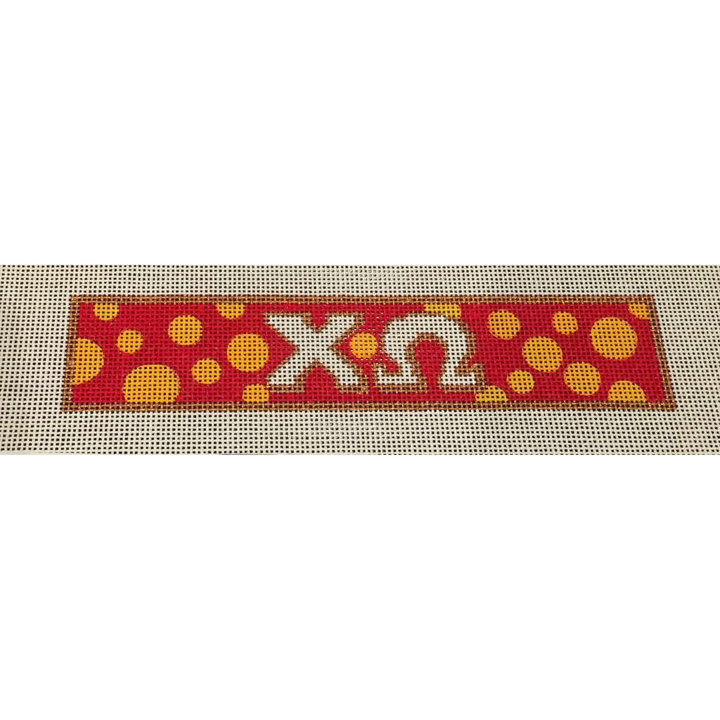 Chi Omega Bracelet Canvas-Needlepoint Canvas-Painted Pony-KC Needlepoint