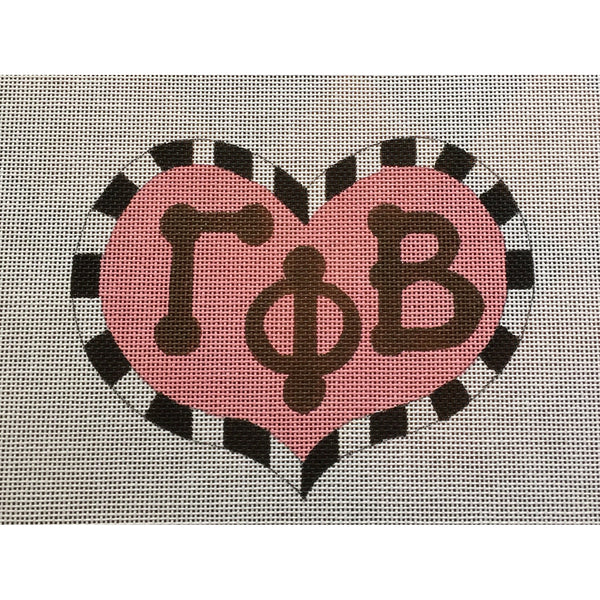 Gamma Phi Beta Large Heart Canvas