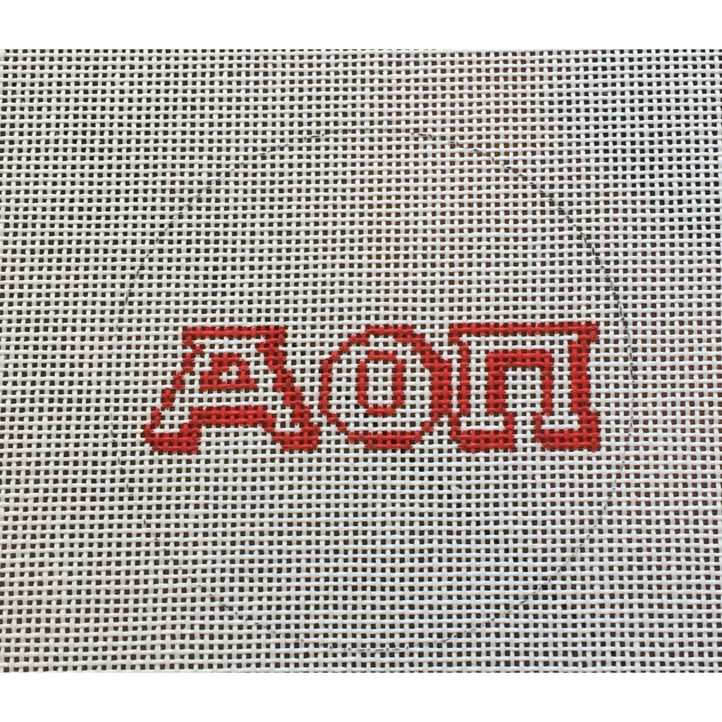 Alpha Omicron Pi Round Canvas
