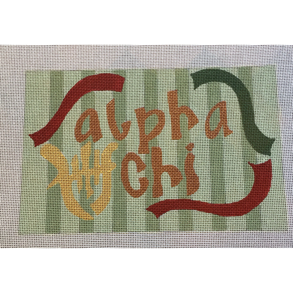 Alpha Chi Omega Nickname Canvas-Needlepoint Canvas-Painted Pony-KC Needlepoint
