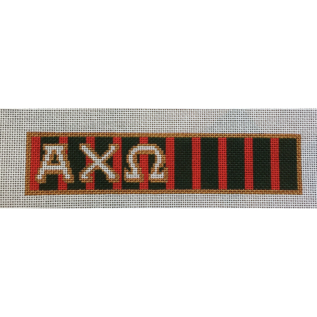 Alpha Chi Omega Key Fob Canvas-Needlepoint Canvas-Painted Pony-KC Needlepoint