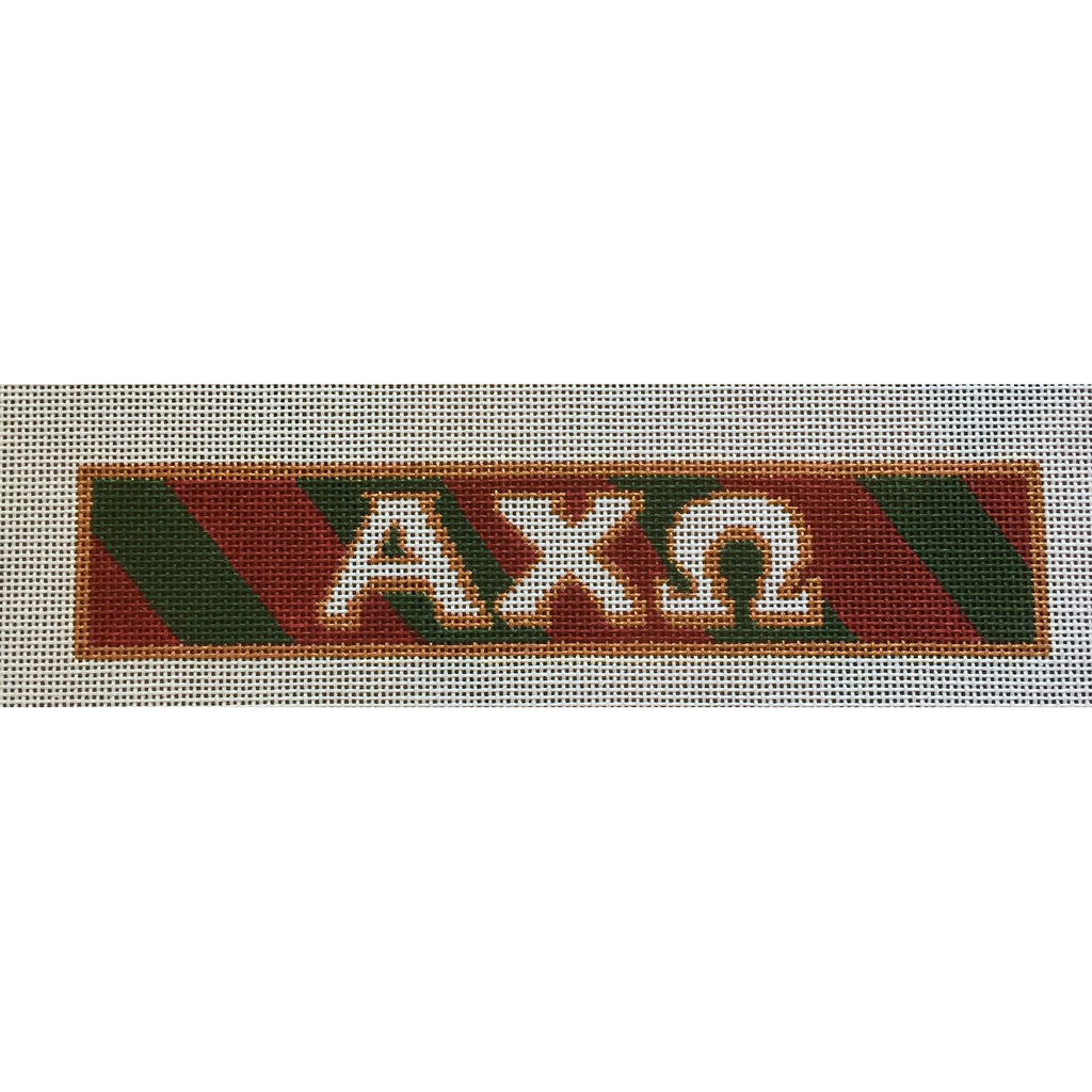 Alpha Chi Omega Bracelet Canvas-Needlepoint Canvas-Painted Pony-KC Needlepoint
