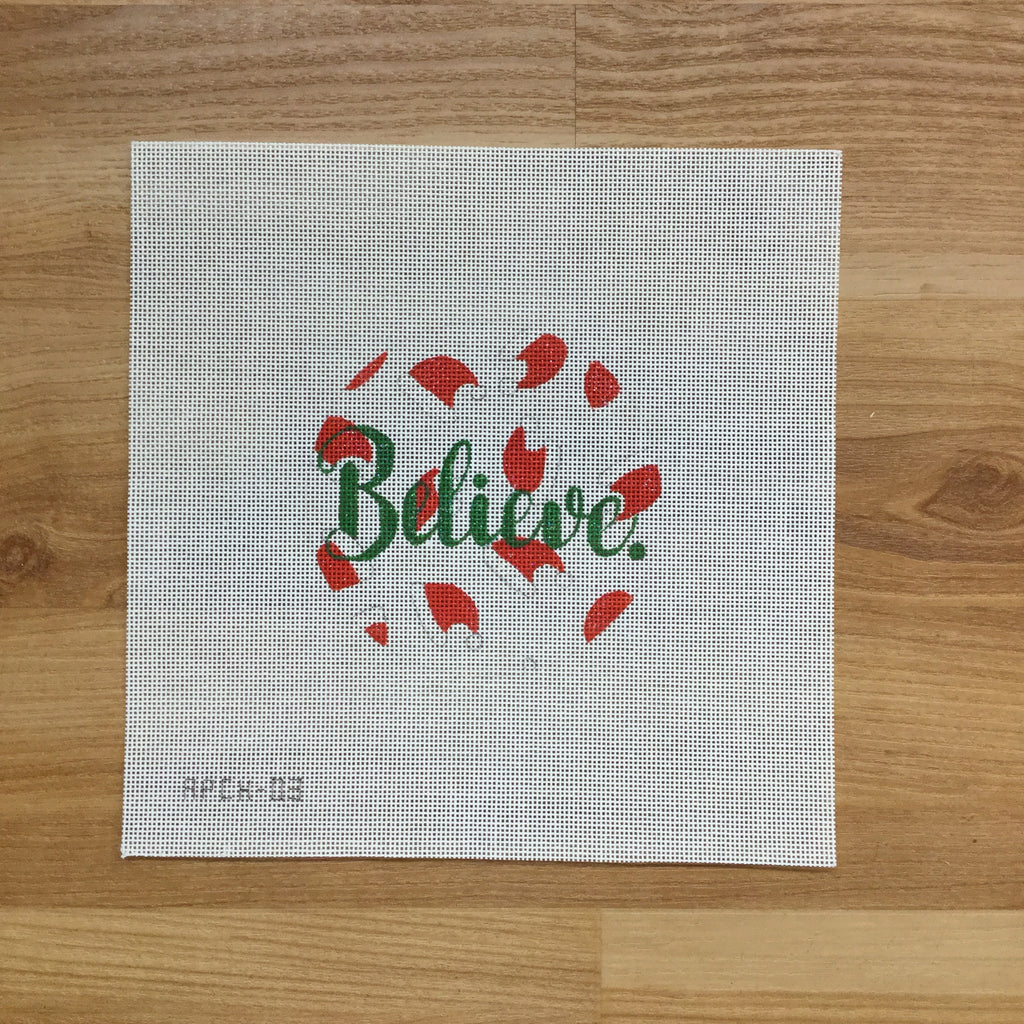 Believe Canvas - needlepoint