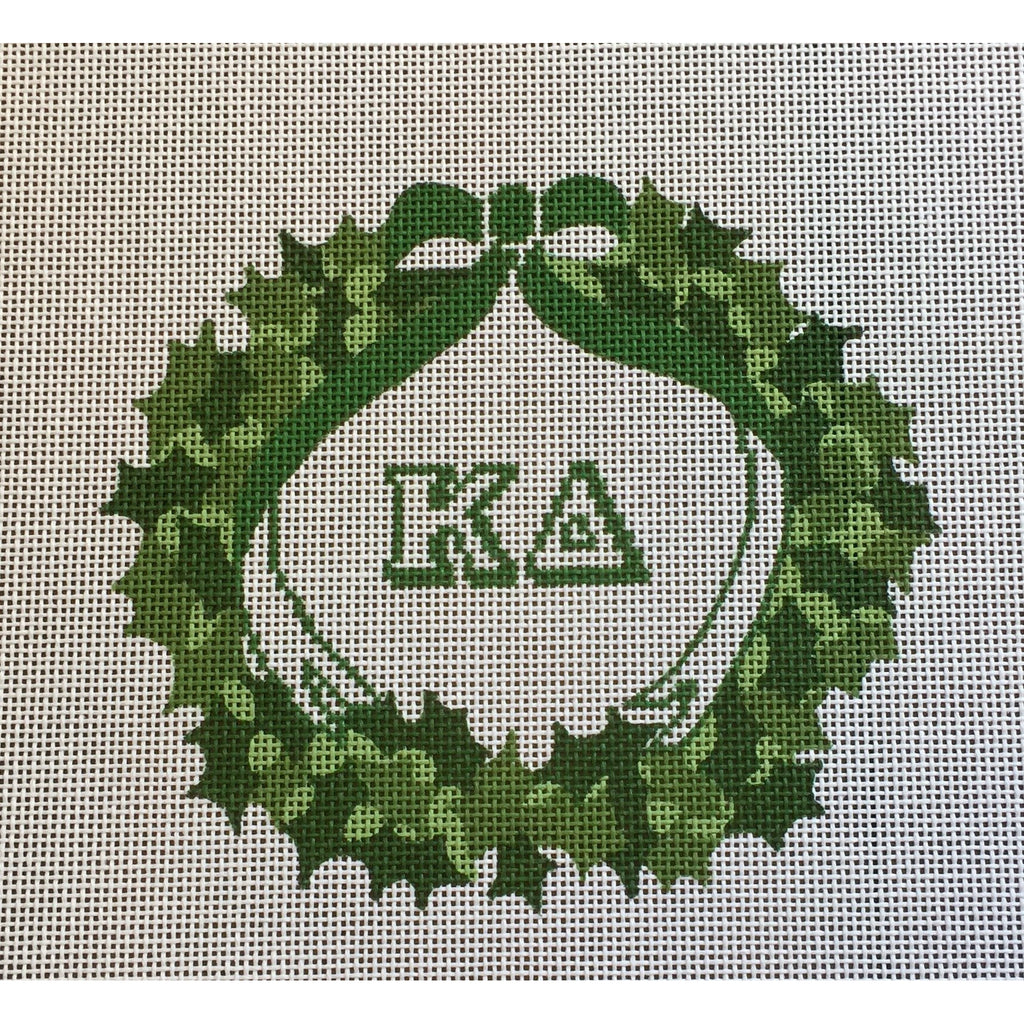 Kappa Delta Wreath Canvas-Needlepoint Canvas-Painted Pony-KC Needlepoint