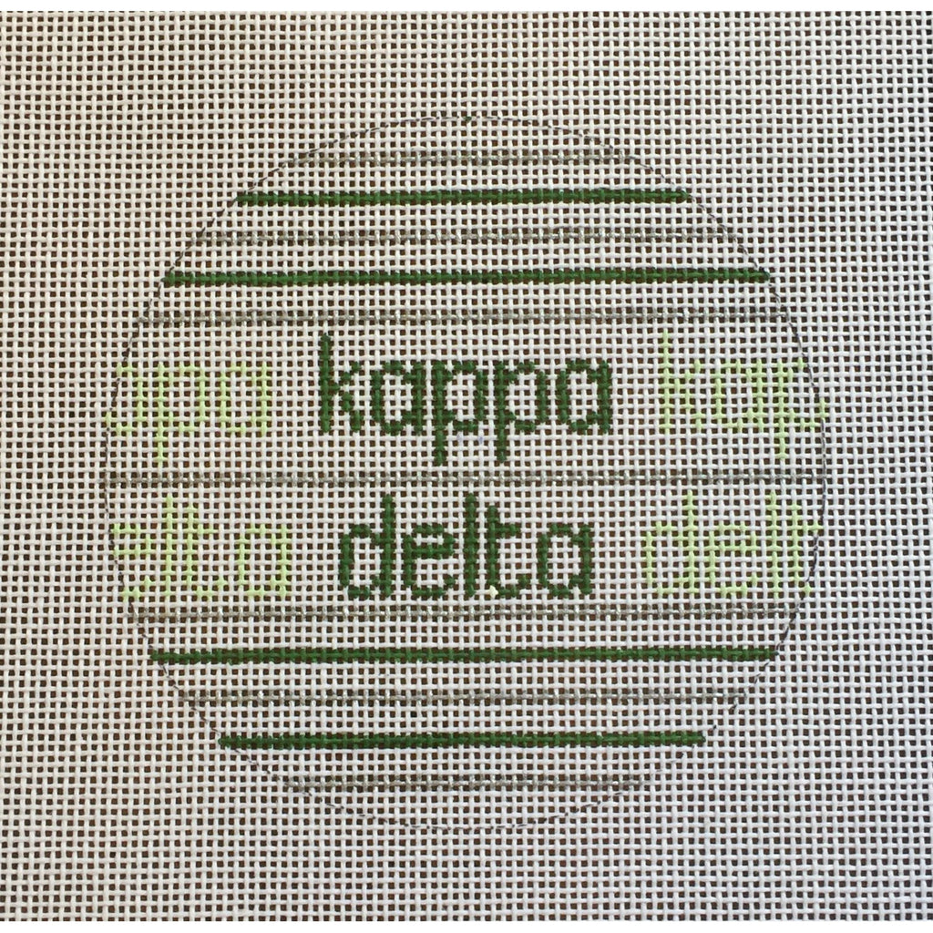 Kappa Delta Ball Canvas-Needlepoint Canvas-Painted Pony-KC Needlepoint