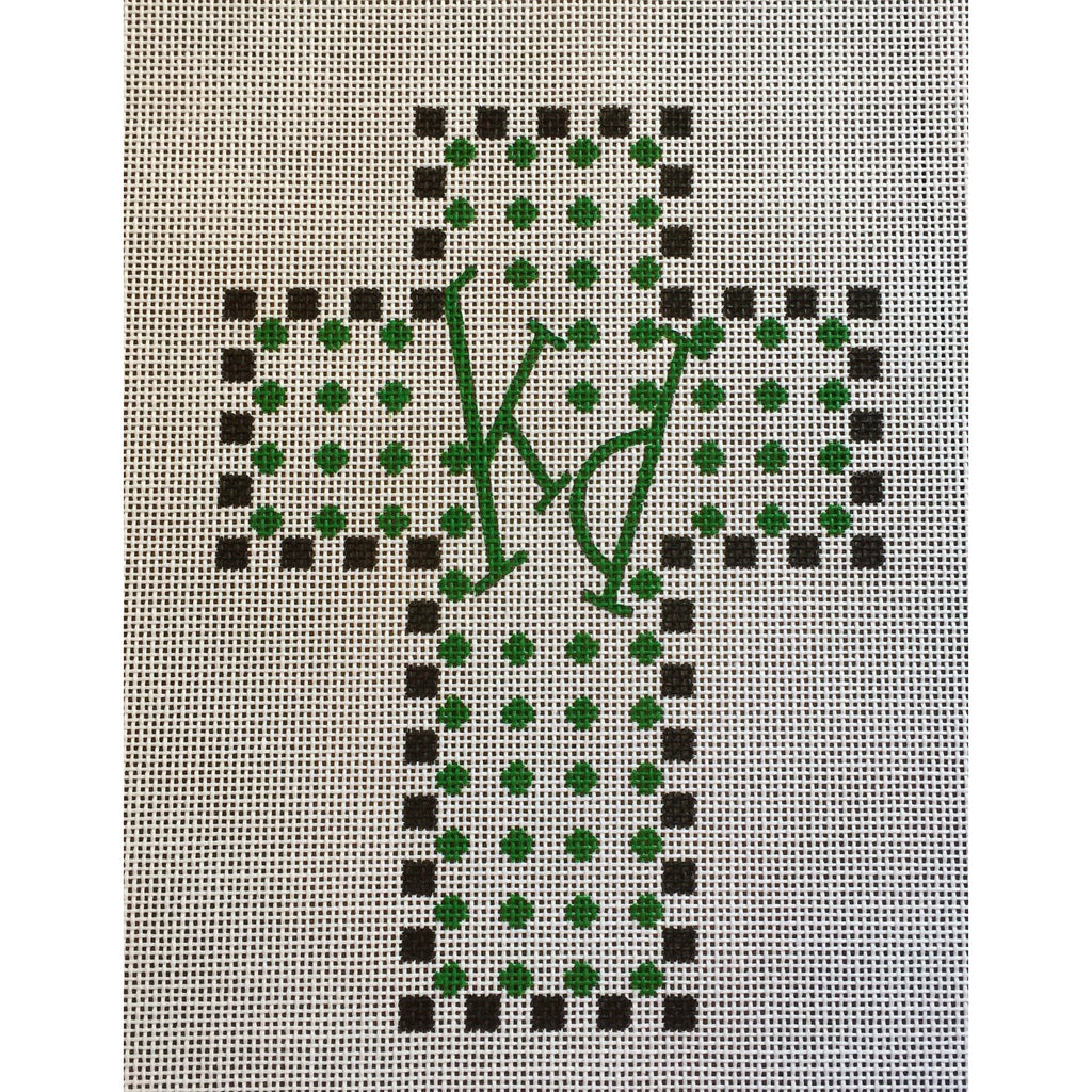 Kappa Delta Cross Canvas-Needlepoint Canvas-Painted Pony-KC Needlepoint