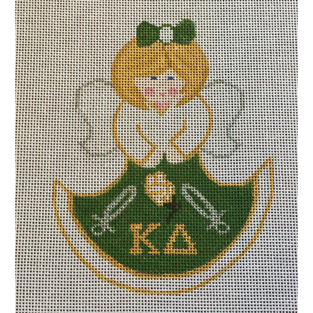 Kappa Delta Angel Canvas - needlepoint