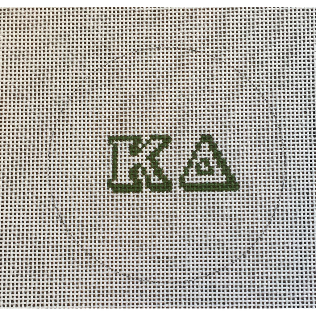 Kappa Delta Round Canvas-Needlepoint Canvas-Painted Pony-KC Needlepoint