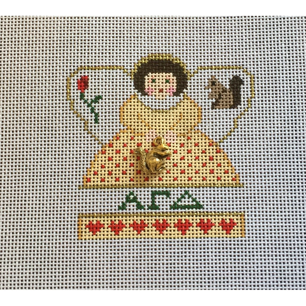 Alpha Gamma Delta Mini Angel Canvas-Needlepoint Canvas-Painted Pony-KC Needlepoint