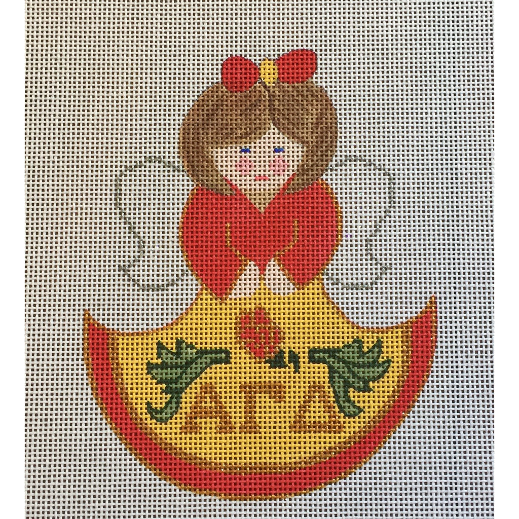Alpha Gamma Delta Angel Canvas - needlepoint