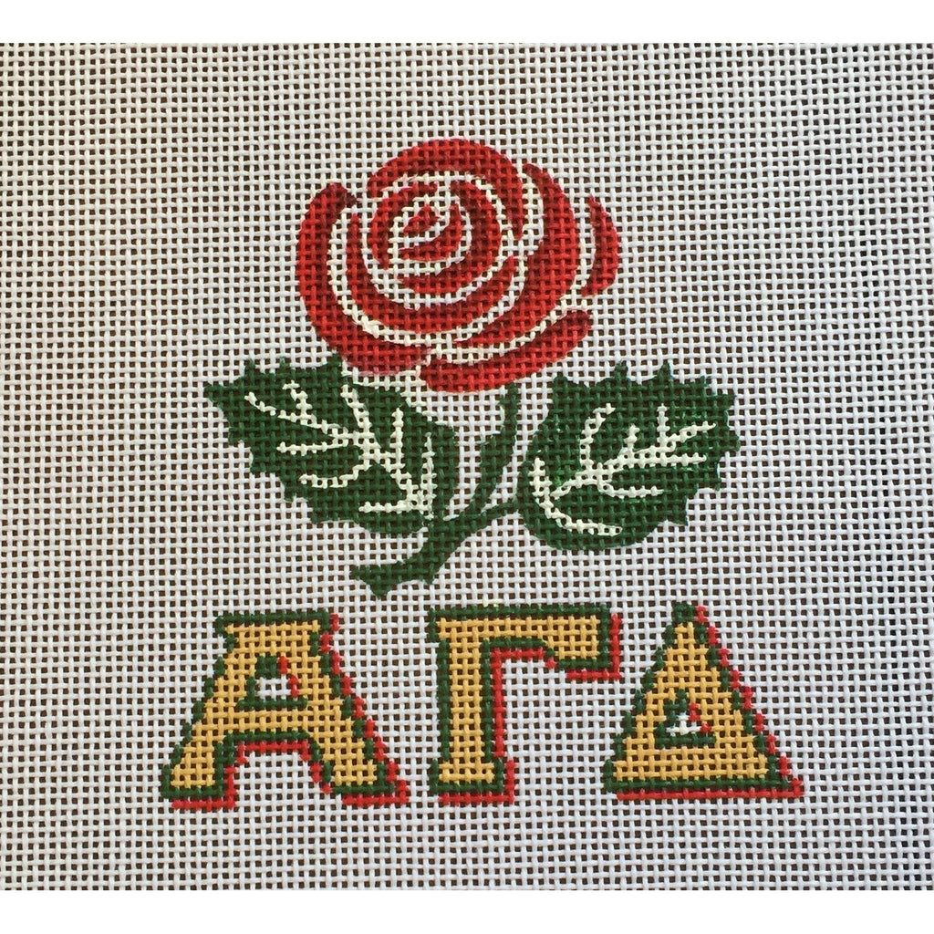 Alpha Gamma Delta/Rose Canvas-Needlepoint Canvas-Painted Pony-KC Needlepoint