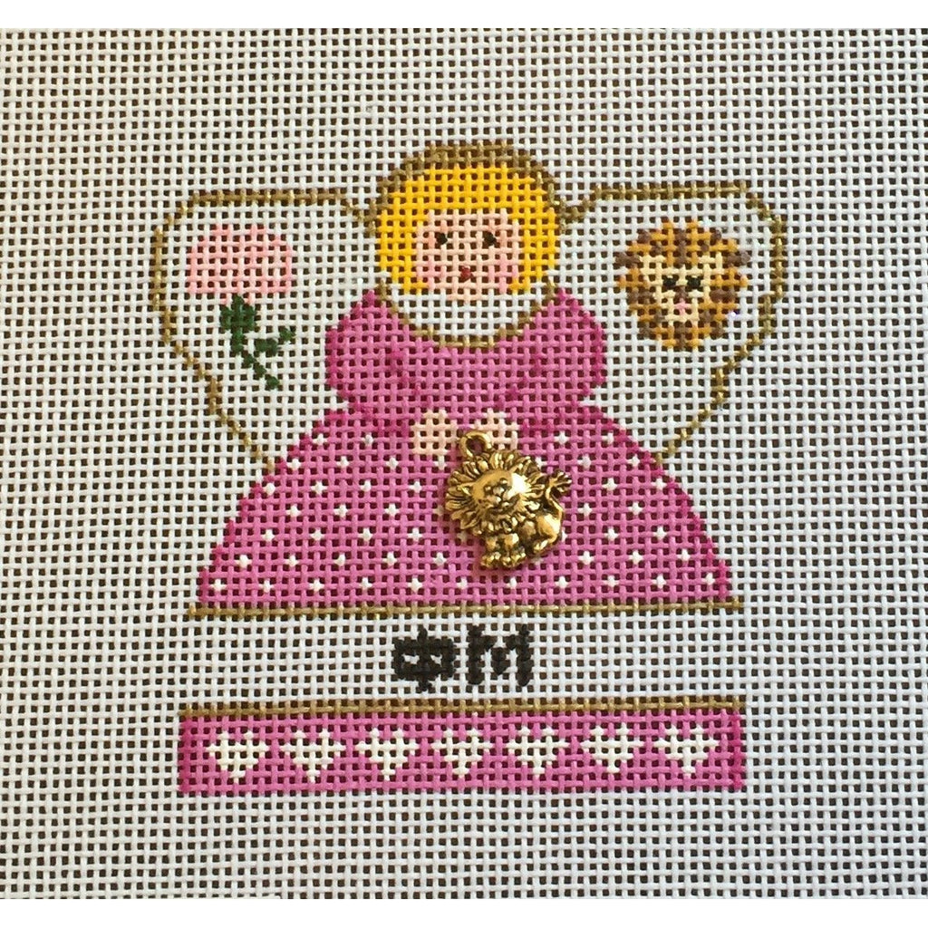 Phi Mu Mini Angel Canvas - needlepoint