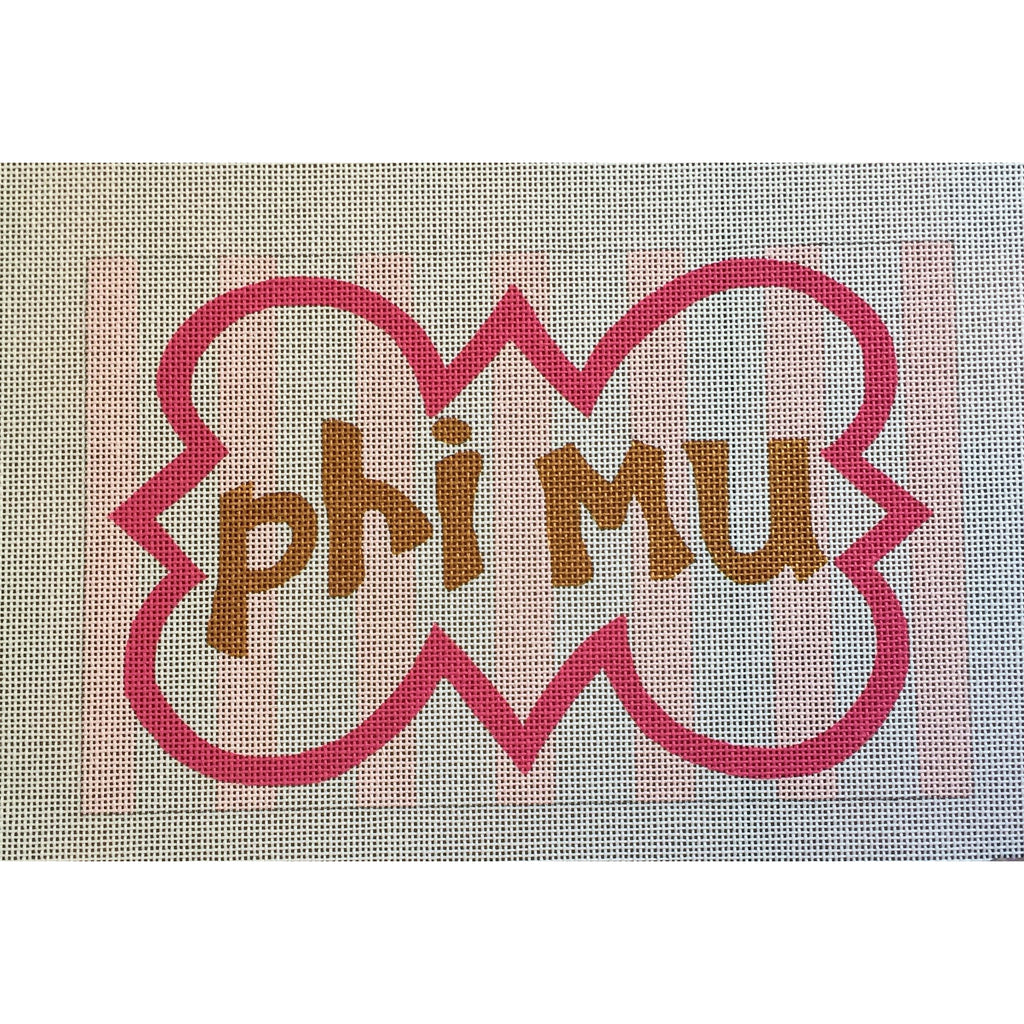 Phi Mu Nickname Canvas-Needlepoint Canvas-Painted Pony-KC Needlepoint