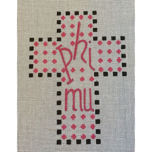 Phi Mu Cross Canvas