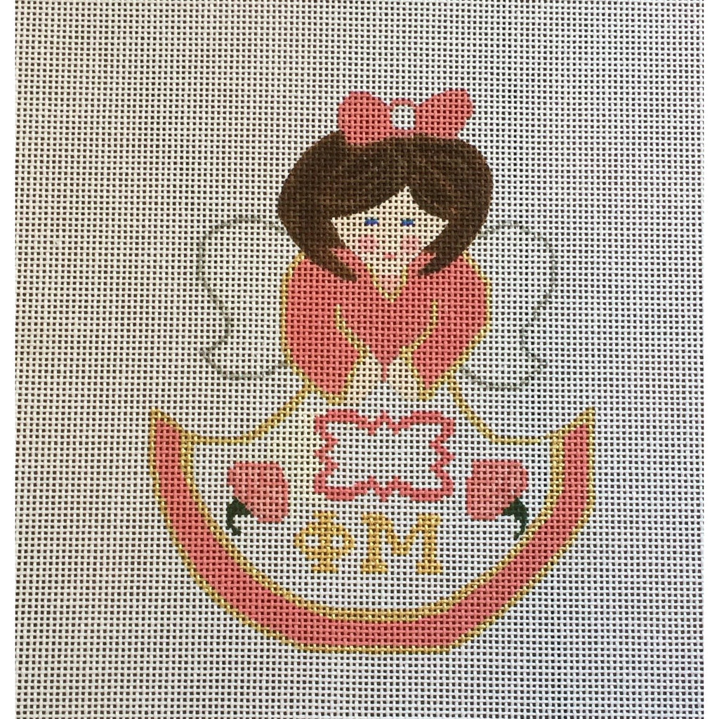 Phi Mu Angel Canvas-Needlepoint Canvas-Painted Pony-KC Needlepoint
