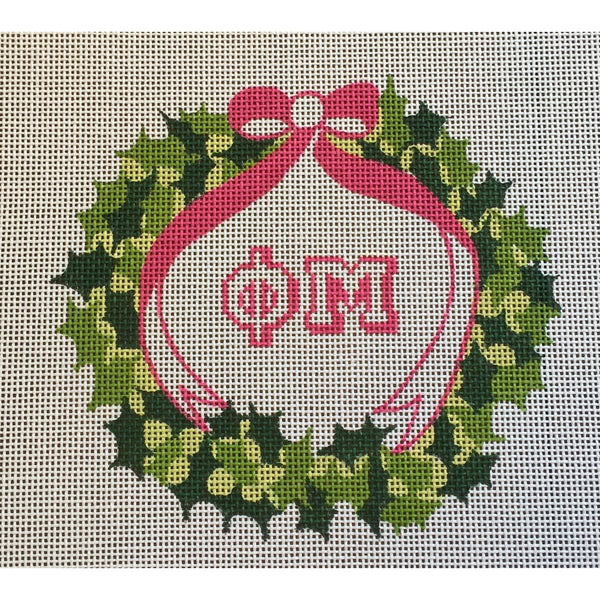 Phi Mu Wreath Canvas