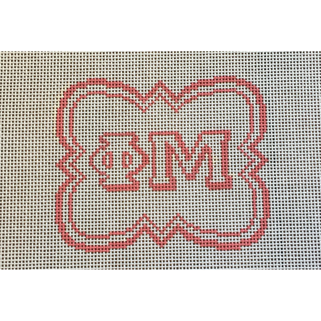 Phi Mu/Quatrefoil Canvas-Needlepoint Canvas-Painted Pony-KC Needlepoint