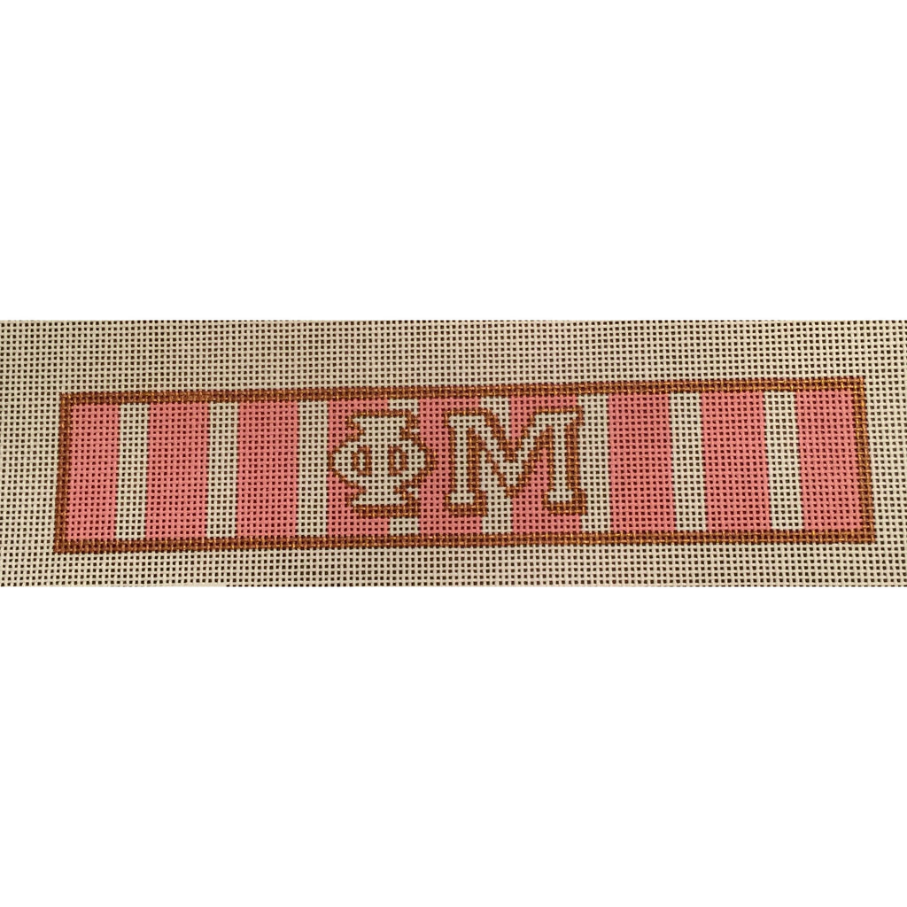 Phi Mu Bracelet Canvas-Needlepoint Canvas-Painted Pony-KC Needlepoint