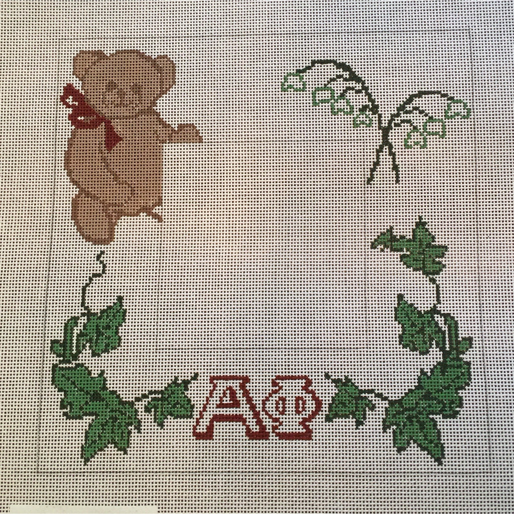 Alpha Phi Frame Canvas-Needlepoint Canvas-Painted Pony-KC Needlepoint