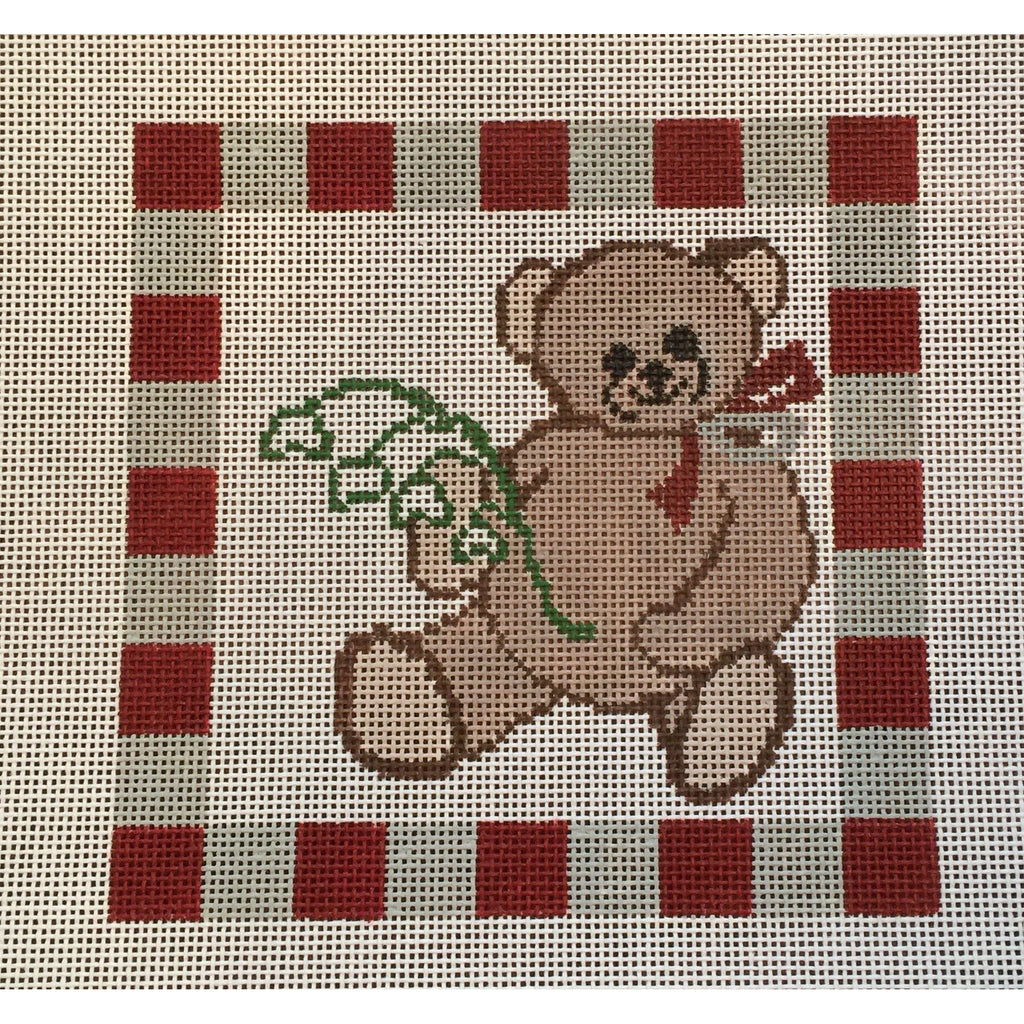 Alpha Phi Bear Canvas-Needlepoint Canvas-Painted Pony-KC Needlepoint