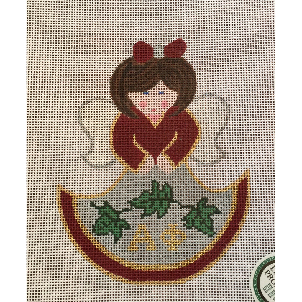 Alpha Phi Angel Canvas-Needlepoint Canvas-Painted Pony-KC Needlepoint