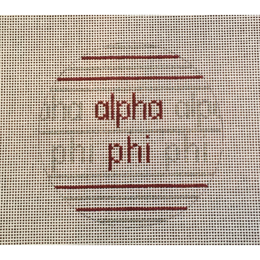 Alpha Phi Ball Canvas-Needlepoint Canvas-Painted Pony-KC Needlepoint