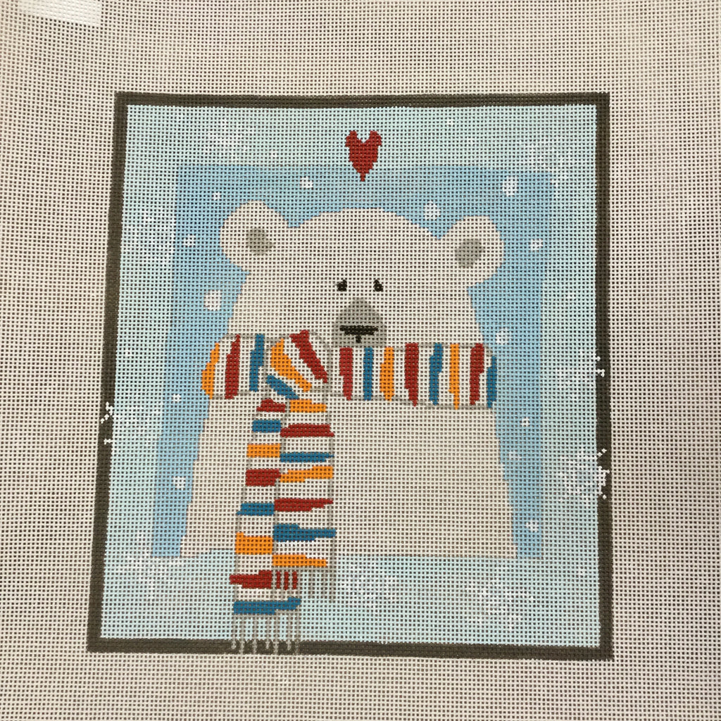 Pippin Polar Bear-Needlepoint Canvas-Pippin-KC Needlepoint
