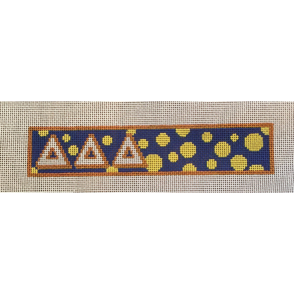 Delta Delta Delta Key Fob Canvas - needlepoint