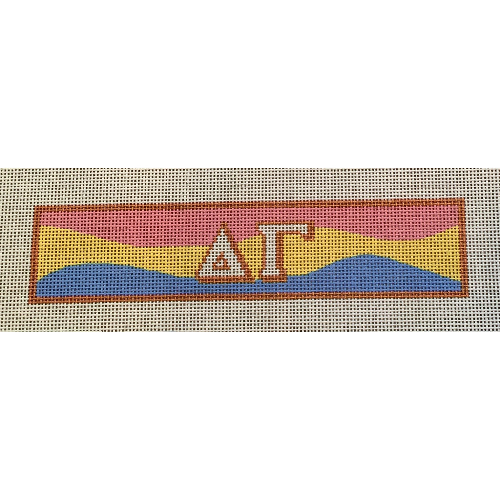 Delta Gamma Bracelet Canvas-Needlepoint Canvas-Painted Pony-KC Needlepoint