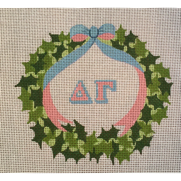 Delta Gamma Wreath Canvas