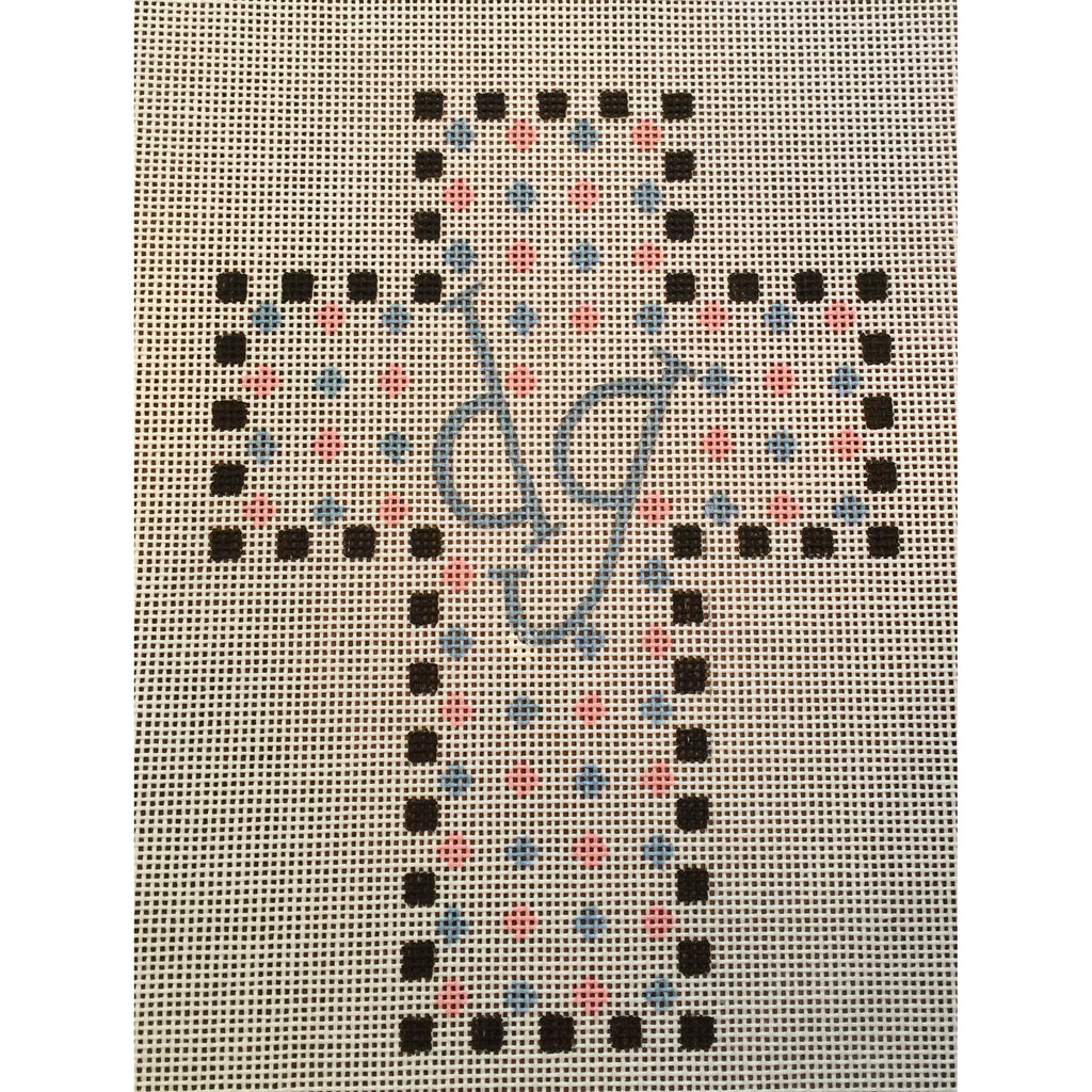 Delta Gamma Cross Canvas-Needlepoint Canvas-Painted Pony-KC Needlepoint