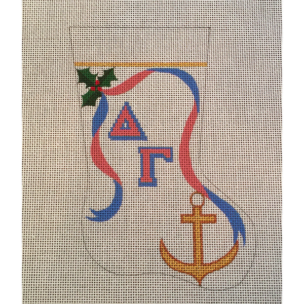 Delta Gamma Anchor Mini Sock Canvas