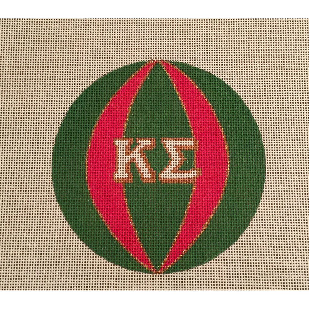 Kappa Sigma Round Canvas-Needlepoint Canvas-Painted Pony-KC Needlepoint