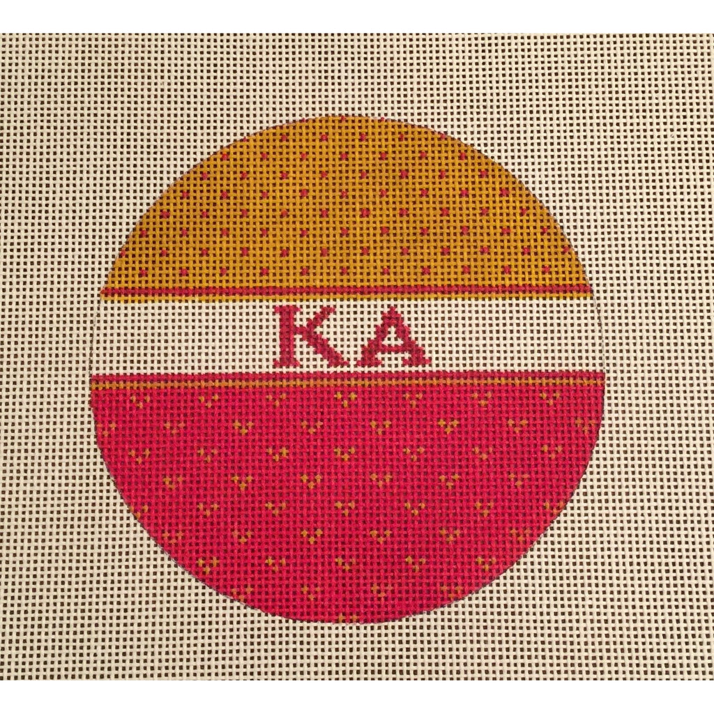 Kappa Alpha Round Canvas-Needlepoint Canvas-Painted Pony-KC Needlepoint