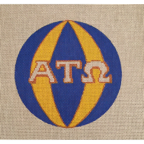 Alpha Tau Omega Round Canvas