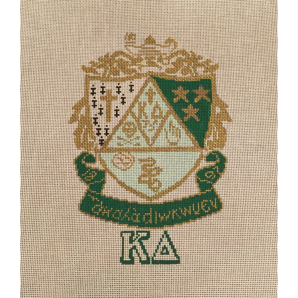 Kappa Delta Crest Canvas-Needlepoint Canvas-Painted Pony-KC Needlepoint