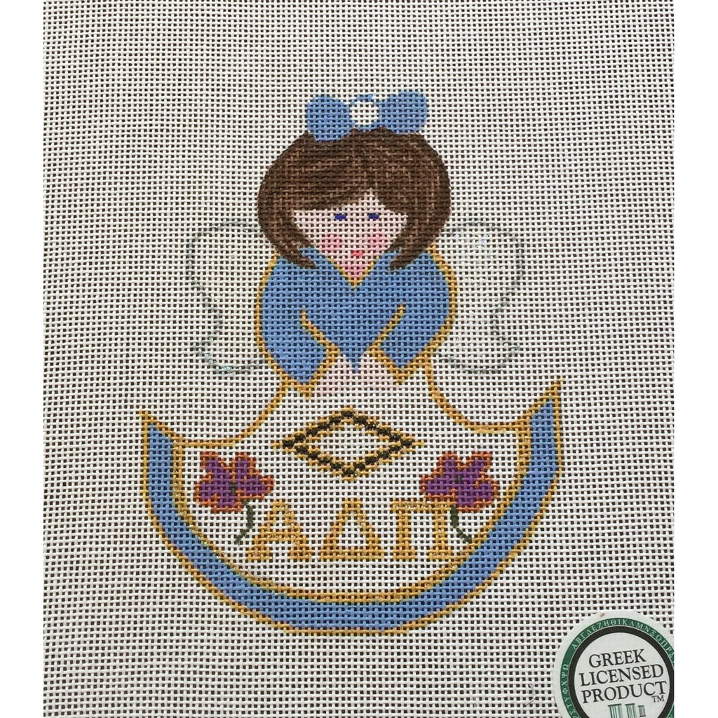 Alpha Delta Pi Angel Canvas-Needlepoint Canvas-Painted Pony-KC Needlepoint